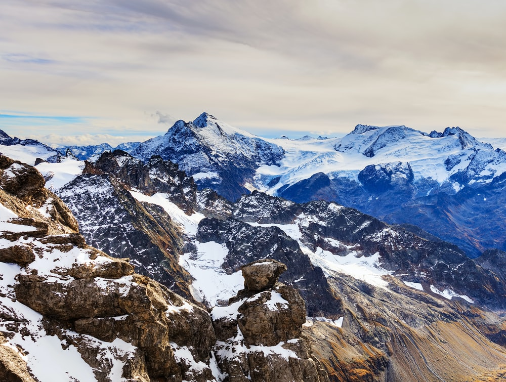 snow covered mountain terrain