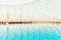 architectural photography of an indoor pool