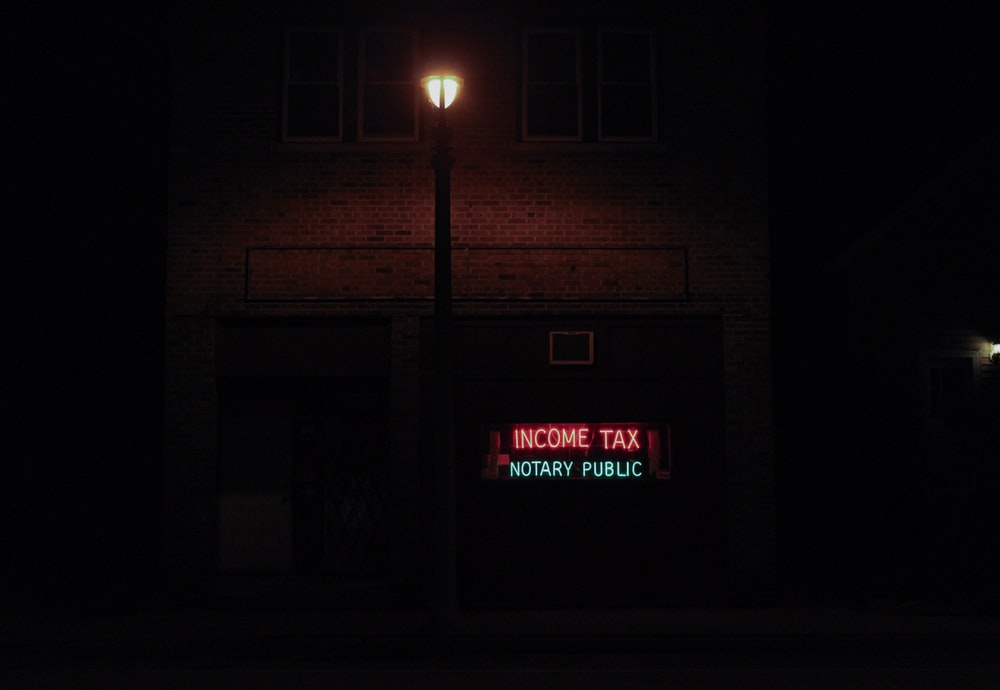 income tax notary public signage
