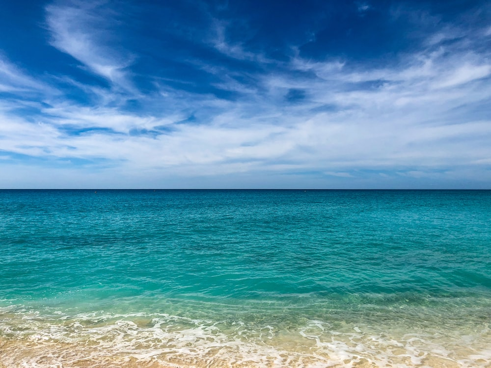 landscape photography of body of water under blue sky