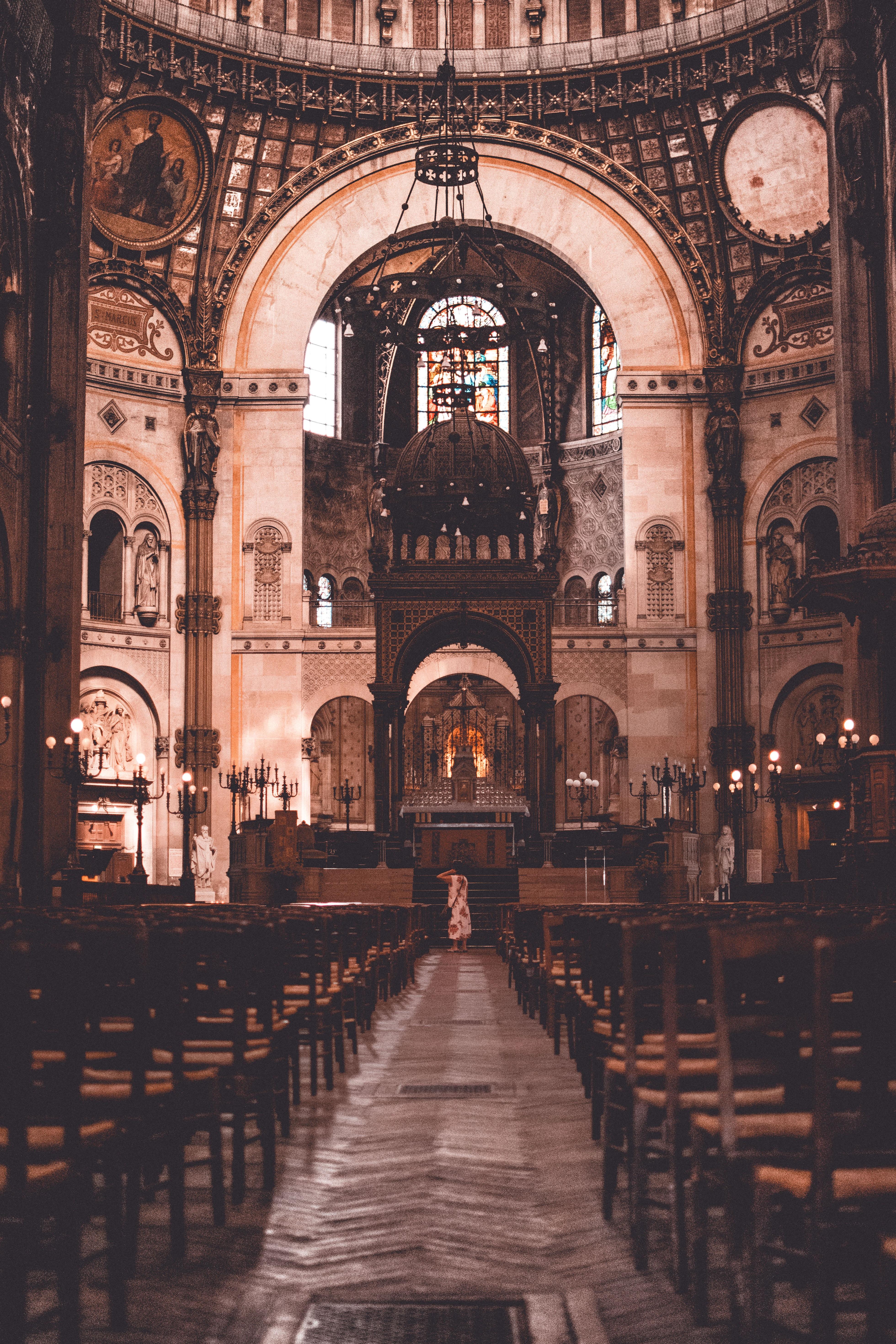 interior photography of church