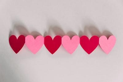 pink heart art