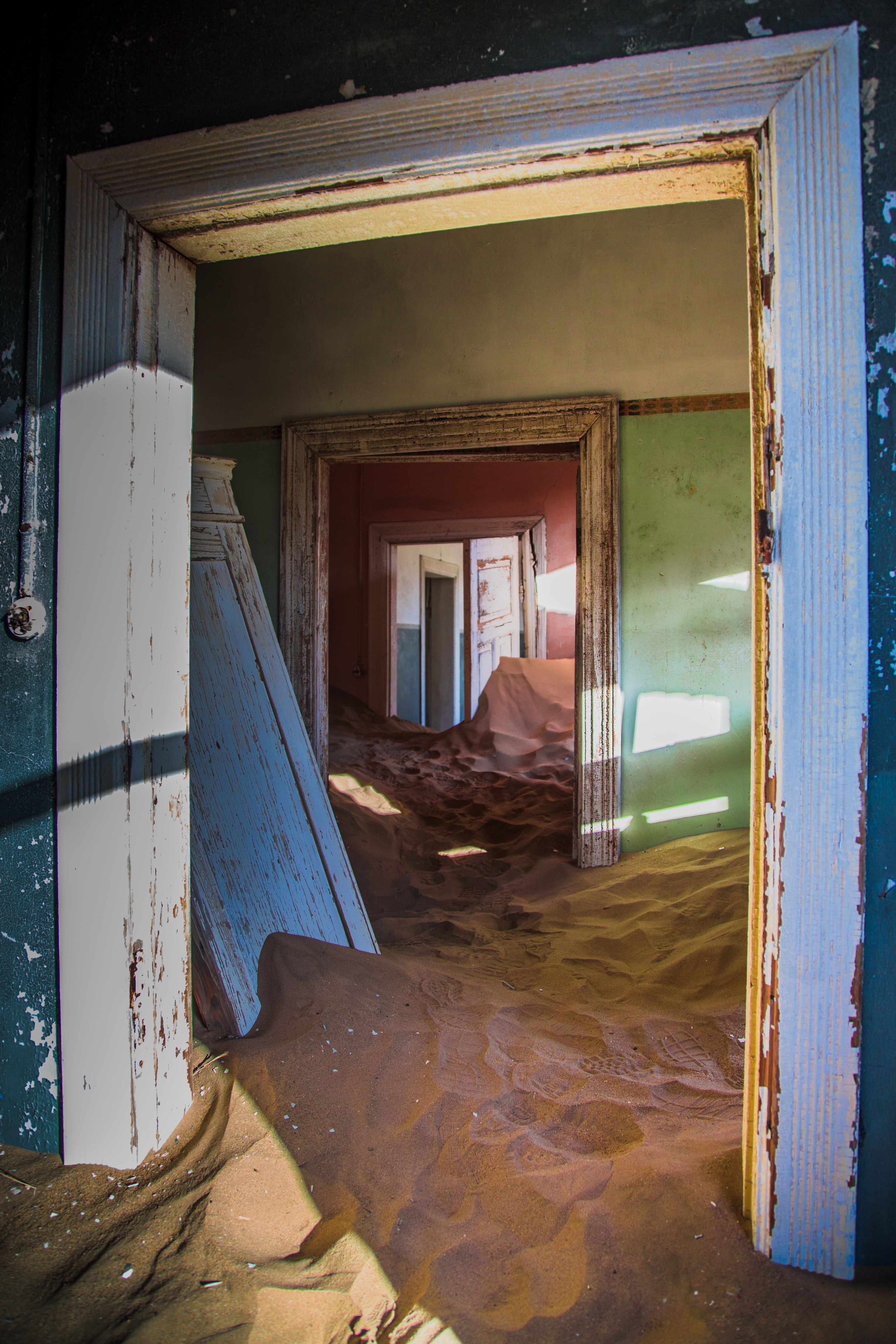 sand floor inside house