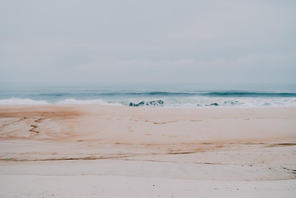 seascape photography of sea waves