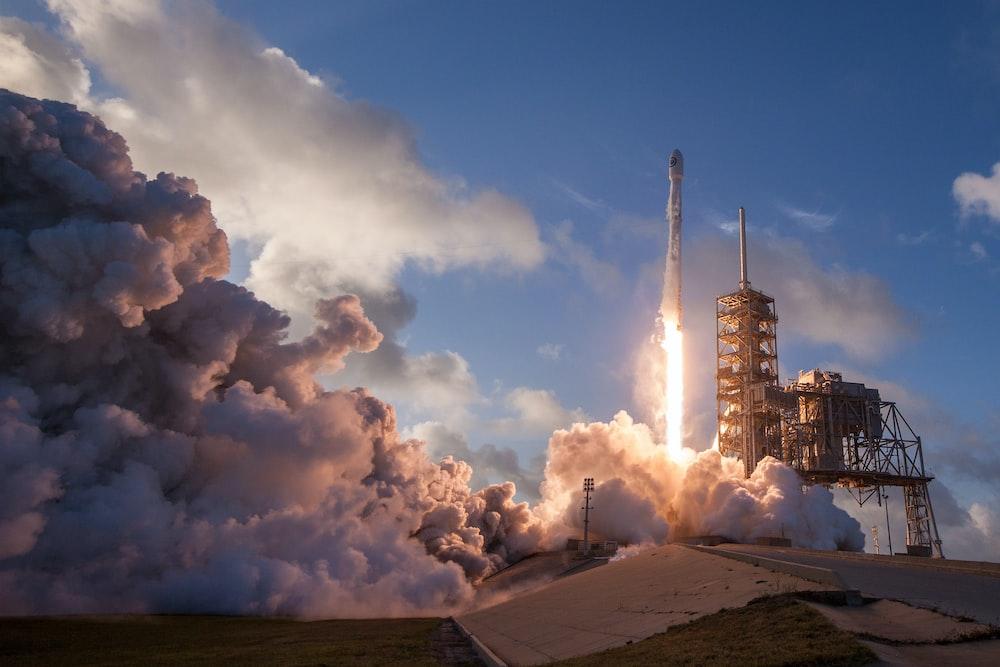 rocket ship photography