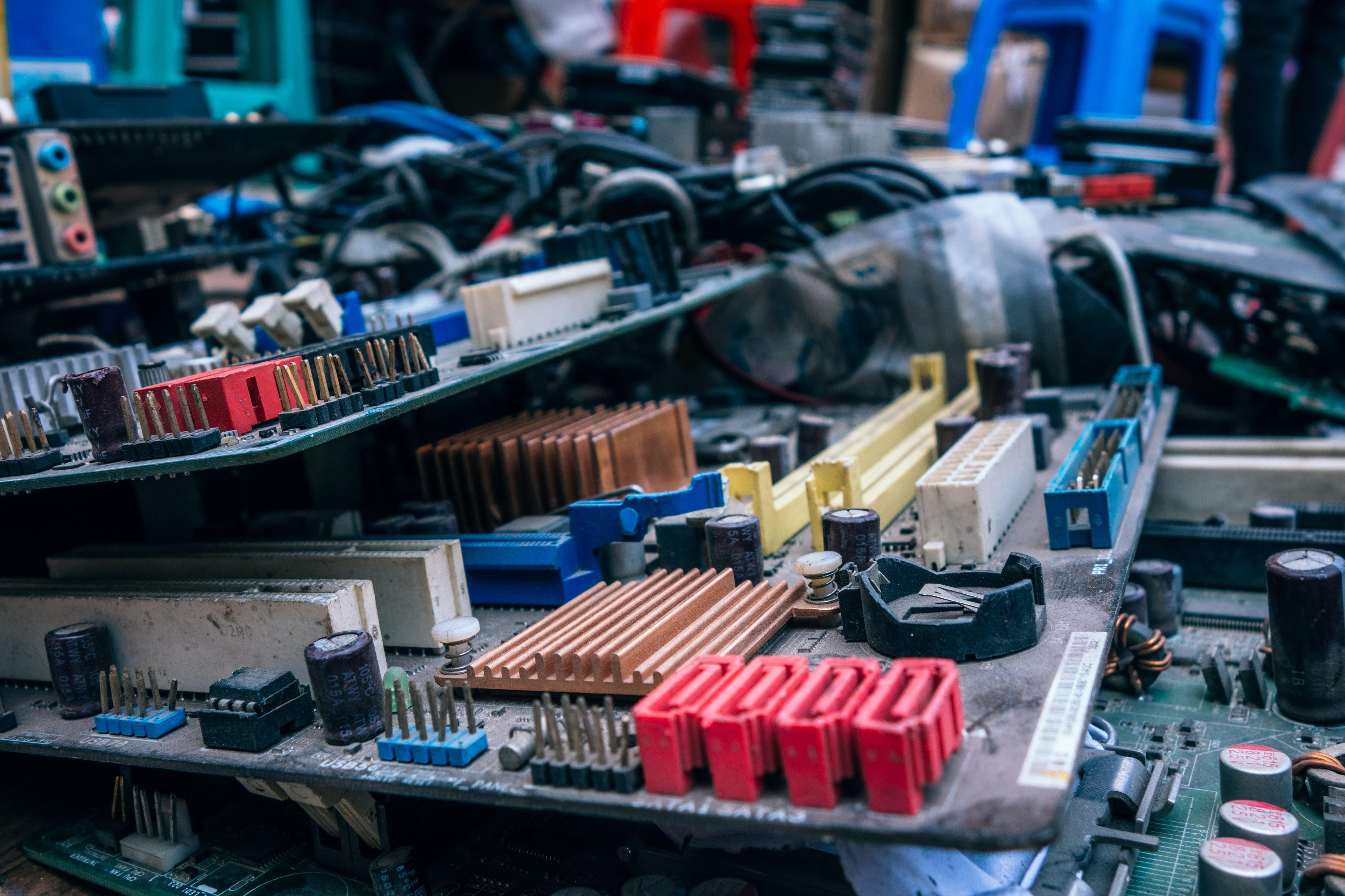 gray circuit boards