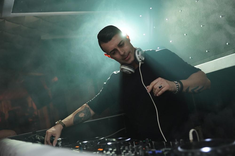DJ man playing song