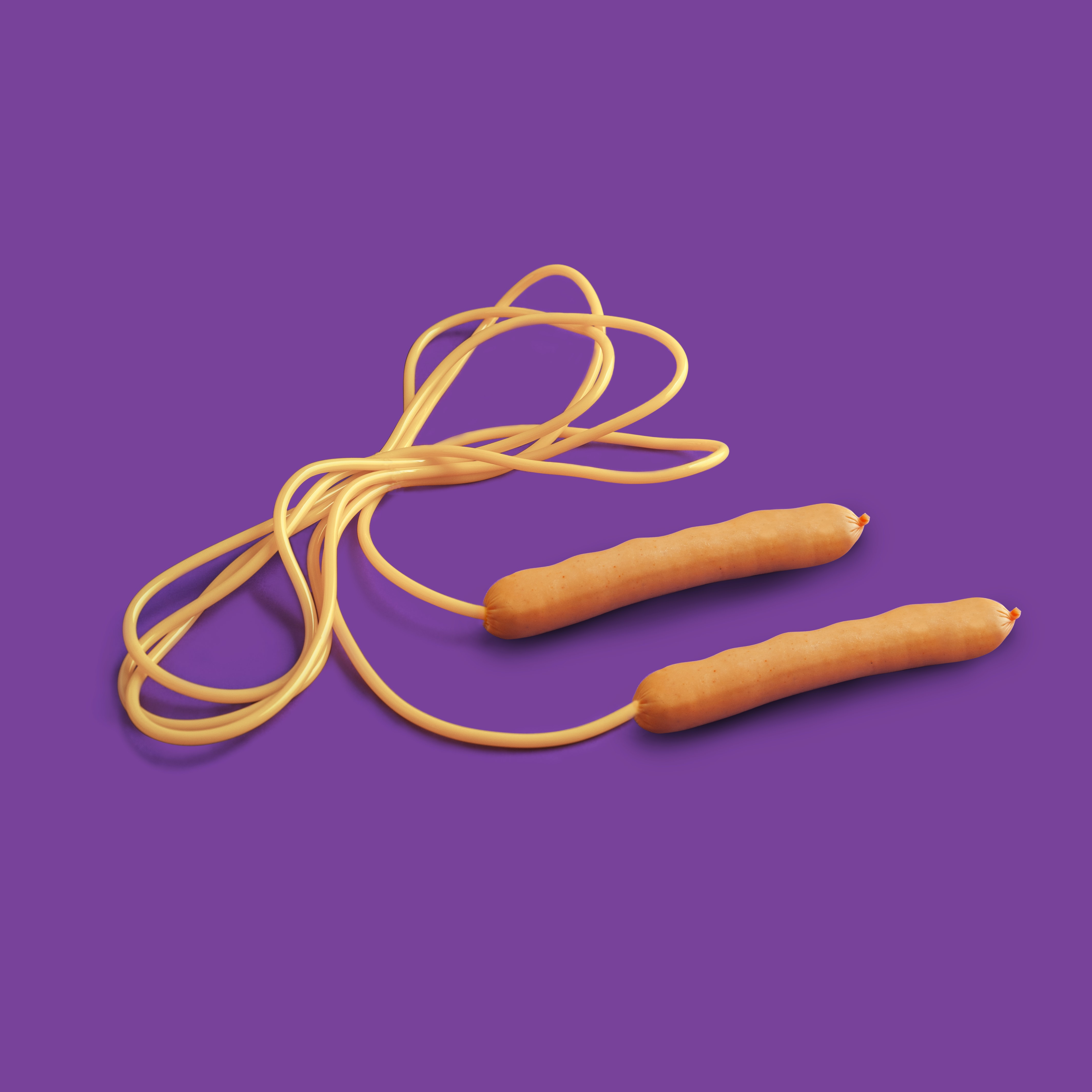 orange skipping rope