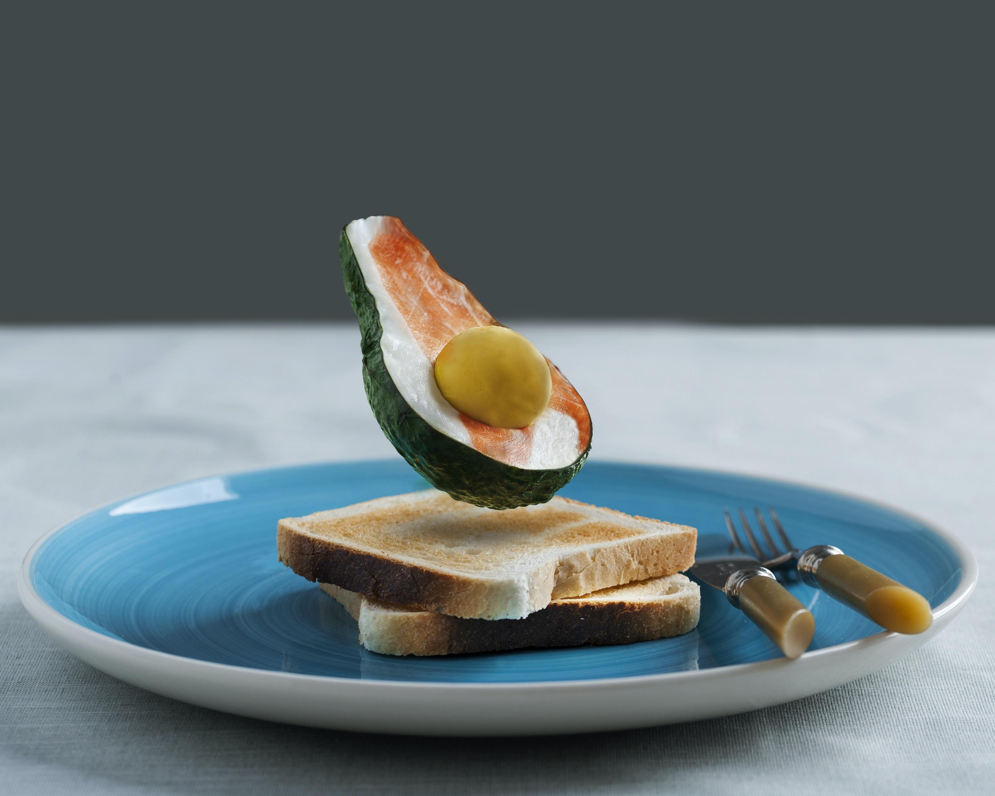 avocado toast served on plate