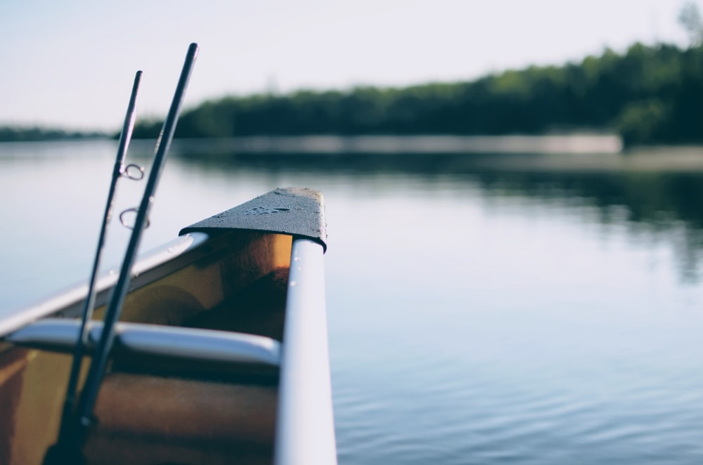 selective focus photography of boat tip
