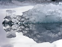 ice closeup photo