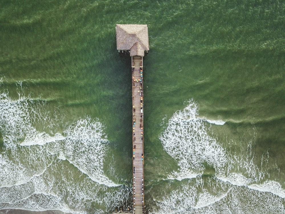 bird's-eye view of dock