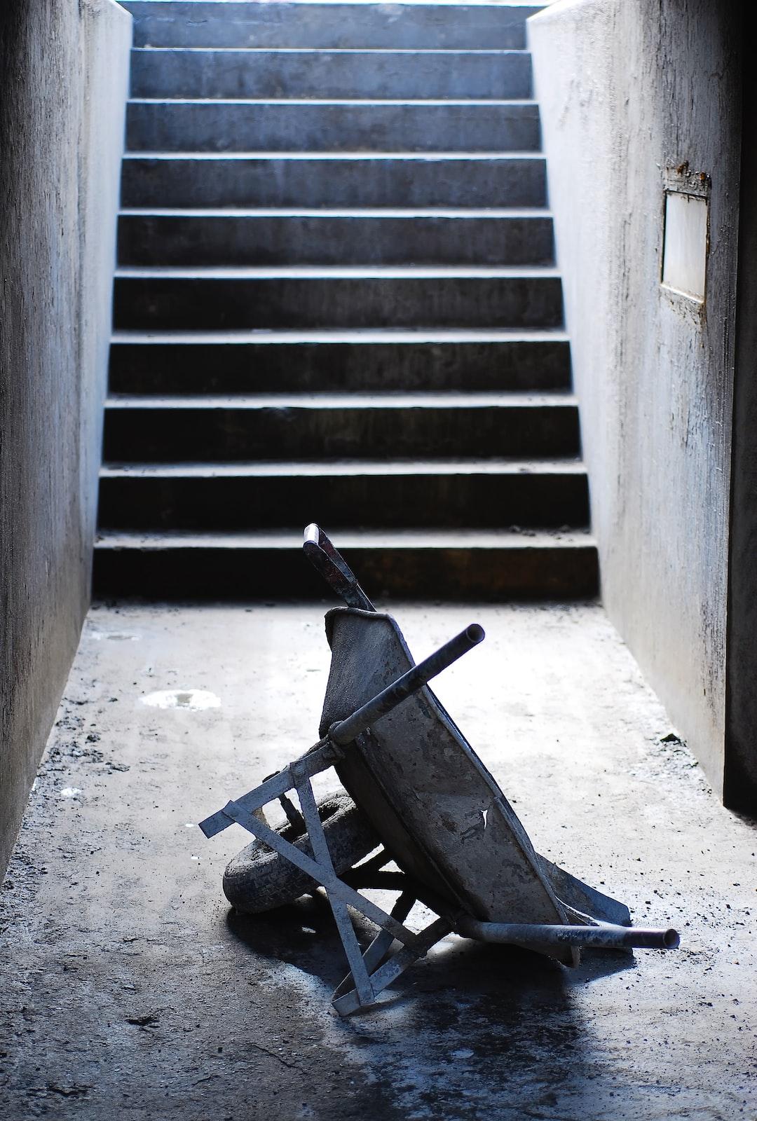 Wheelbarrow at a concrete plant.  Very Worn