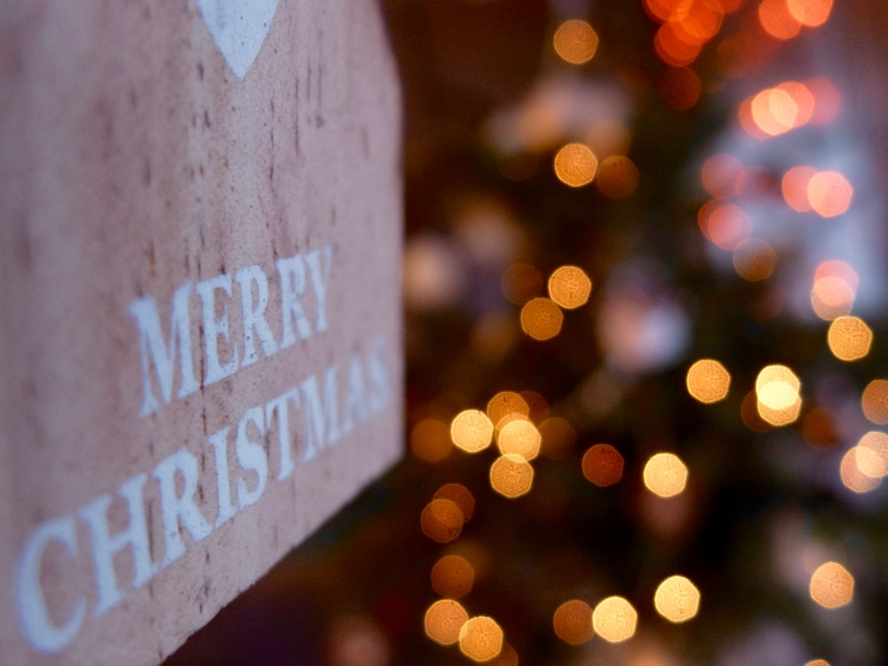 Merry Christmas wooden signage
