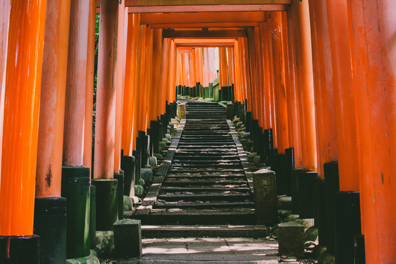 orange concrete torii