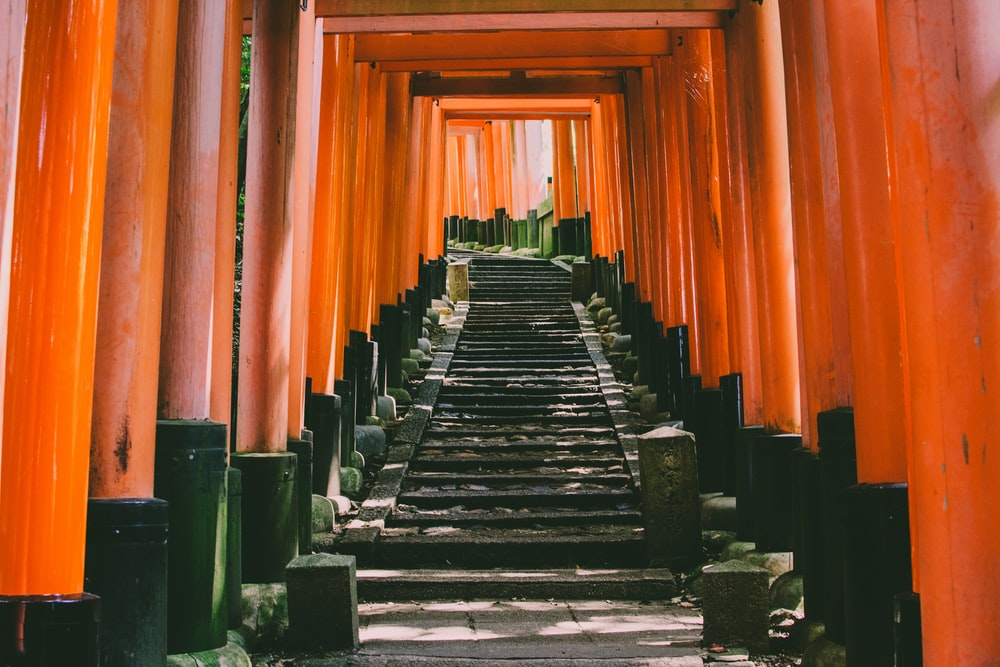 orange concrete torii