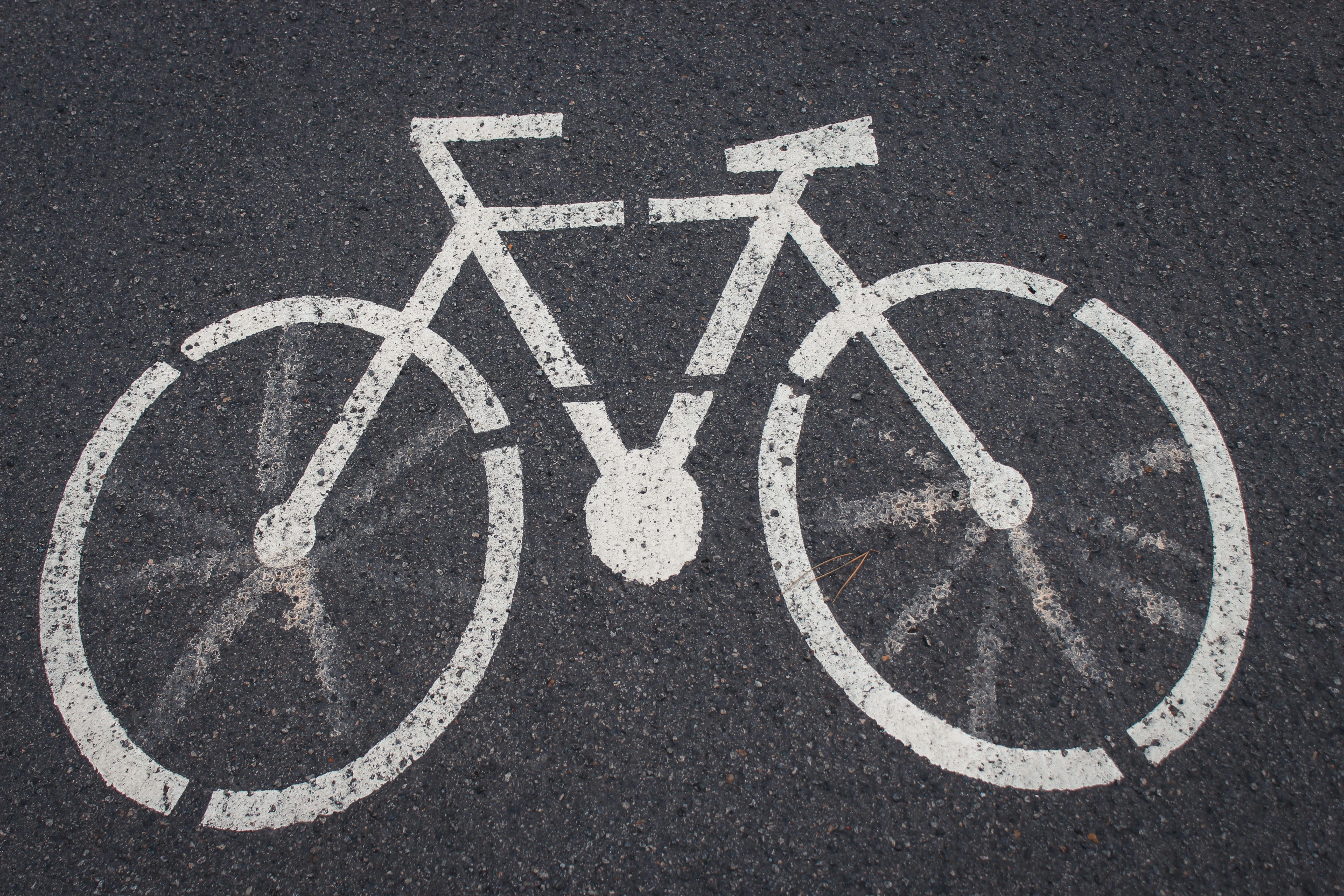bicycle lane road signage
