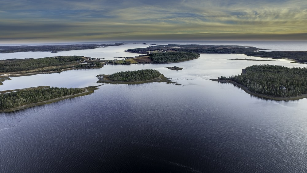 bird's eye view photography of islands