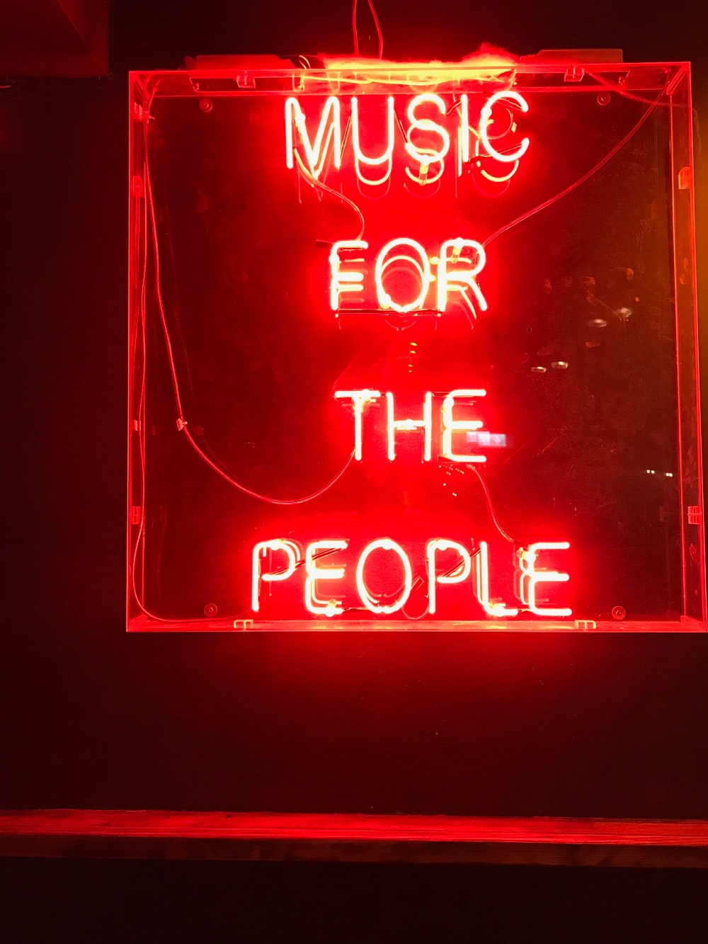 red music for the people LED light