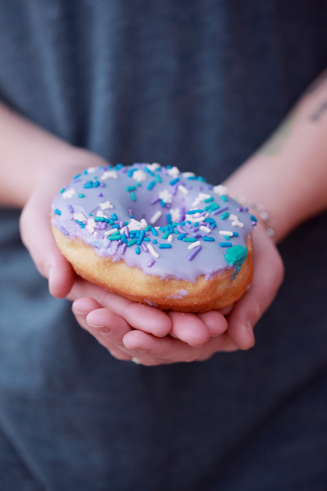 I picked up a dozen colorful donuts at the grocery store today. They were all decorated in bright springtime pastel colors and fun sprinkles.