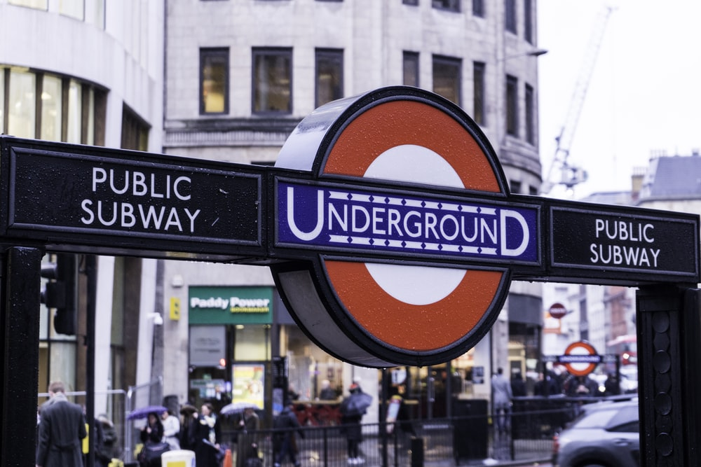 Underground signage during daytime