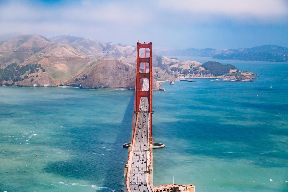 aerial view photography of Golden Gate Bridge during daytime