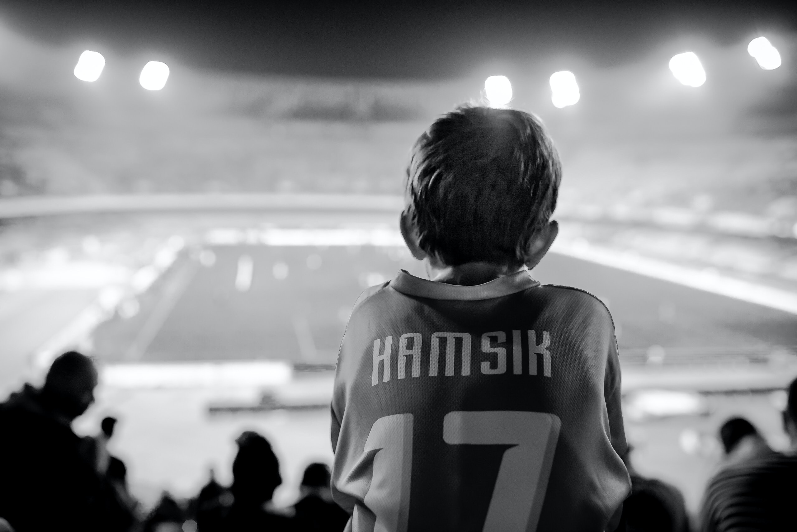 grayscale photo of person wearing Hamsik 17 jersey