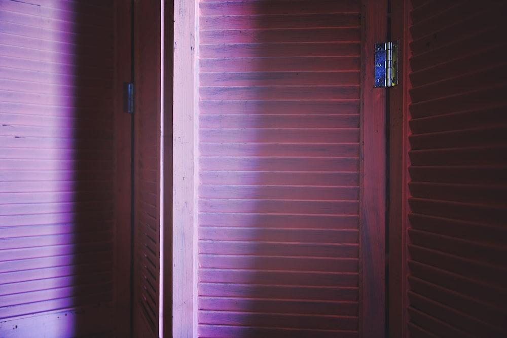 pink wooden room divider
