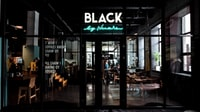 Black neon light signage