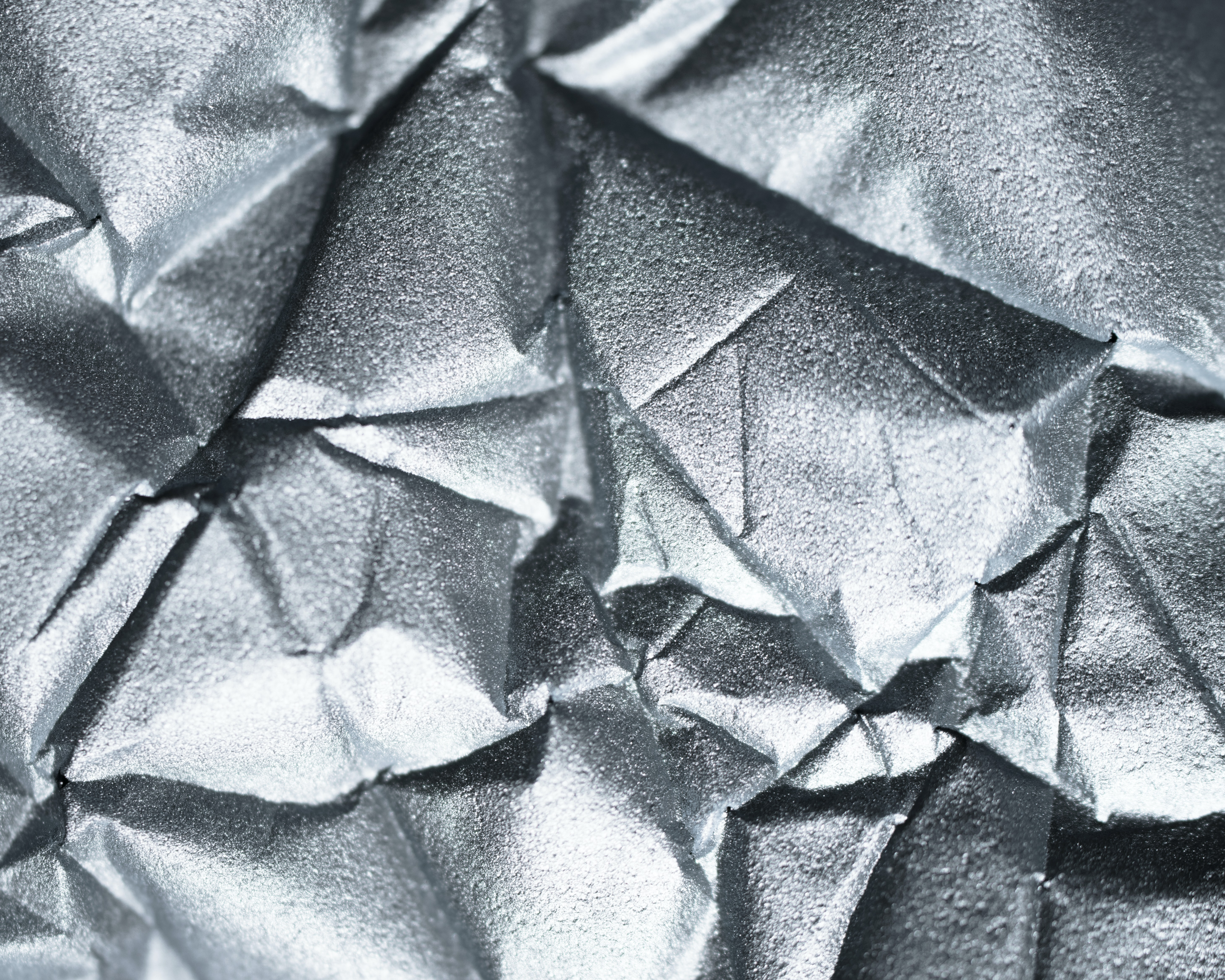 crumpled gray ornament