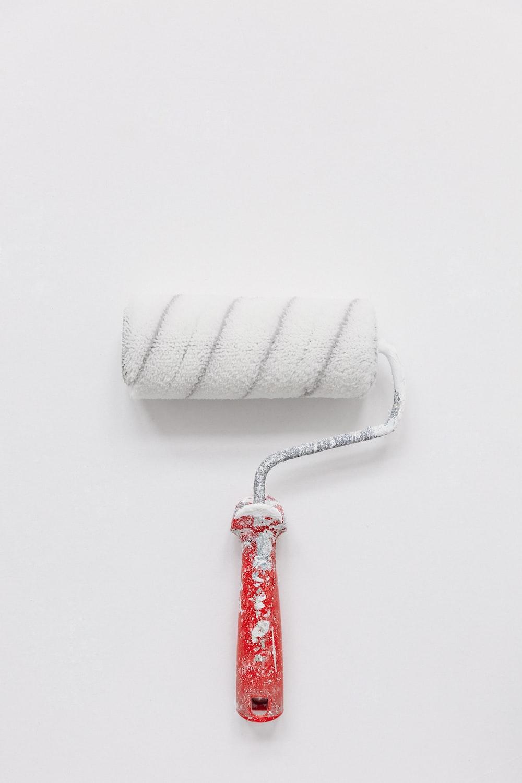 white paint roller