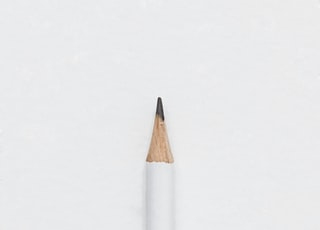 white lead pencil on surface