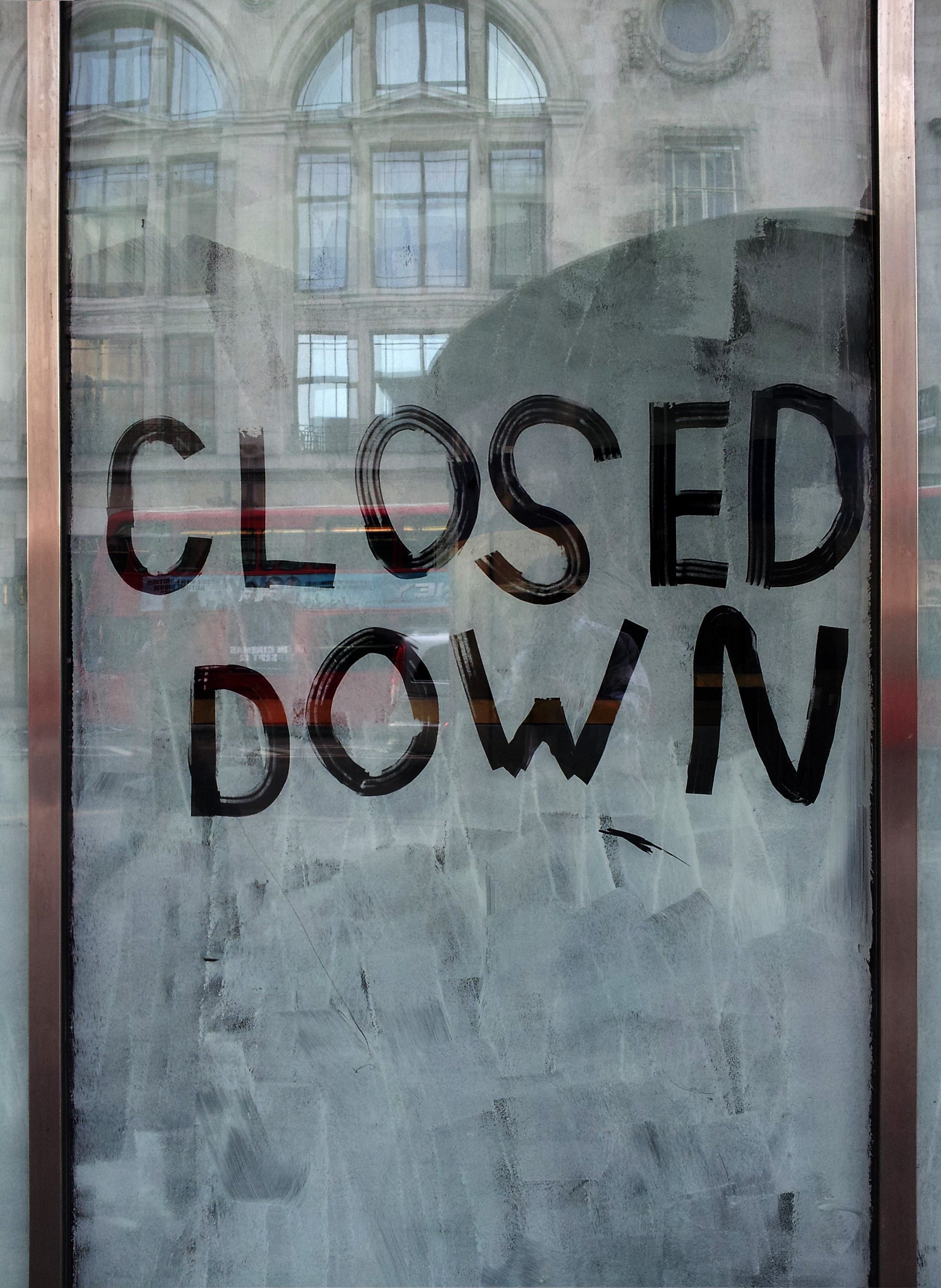 """Closed down"""