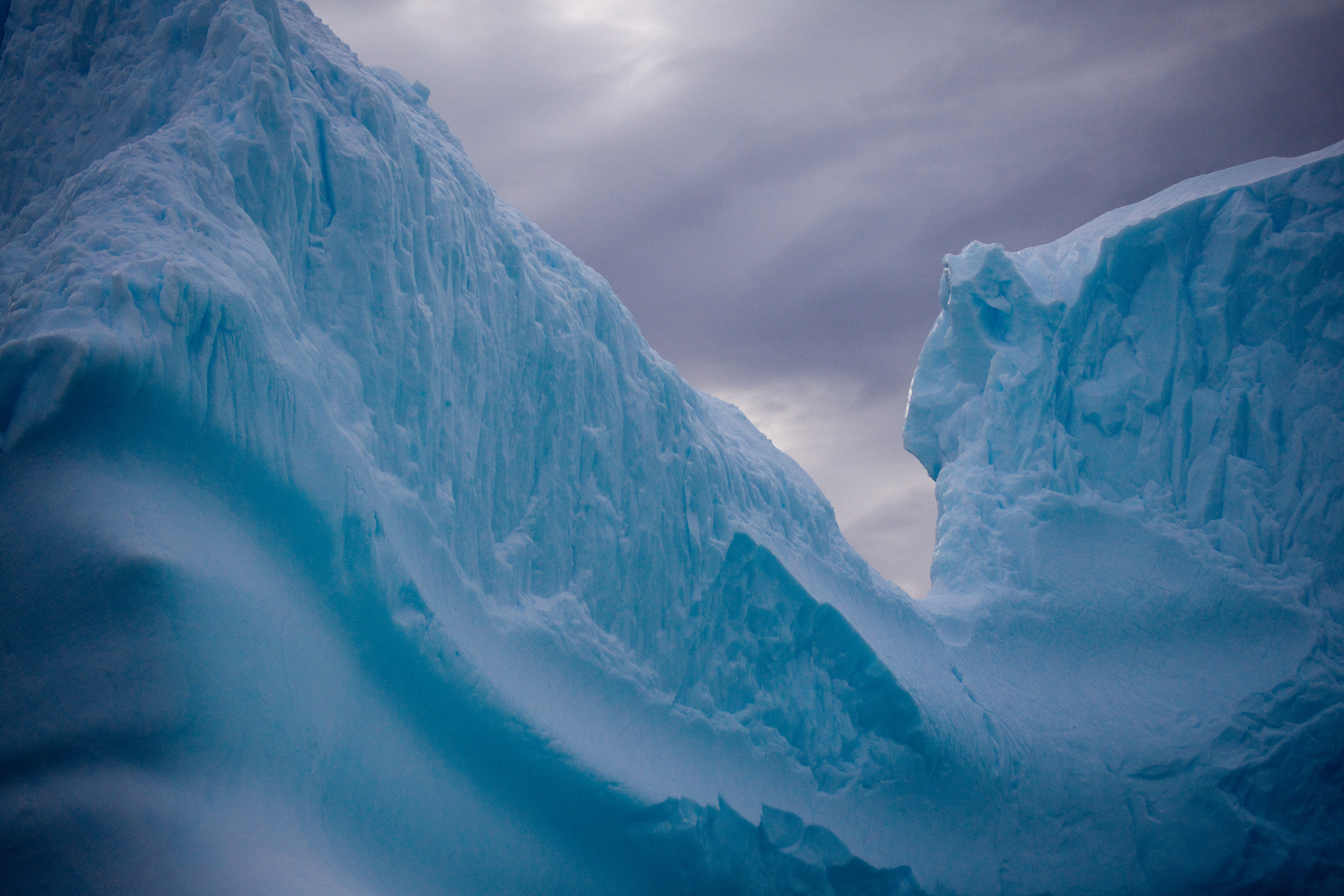 landscape photograph of ice formation