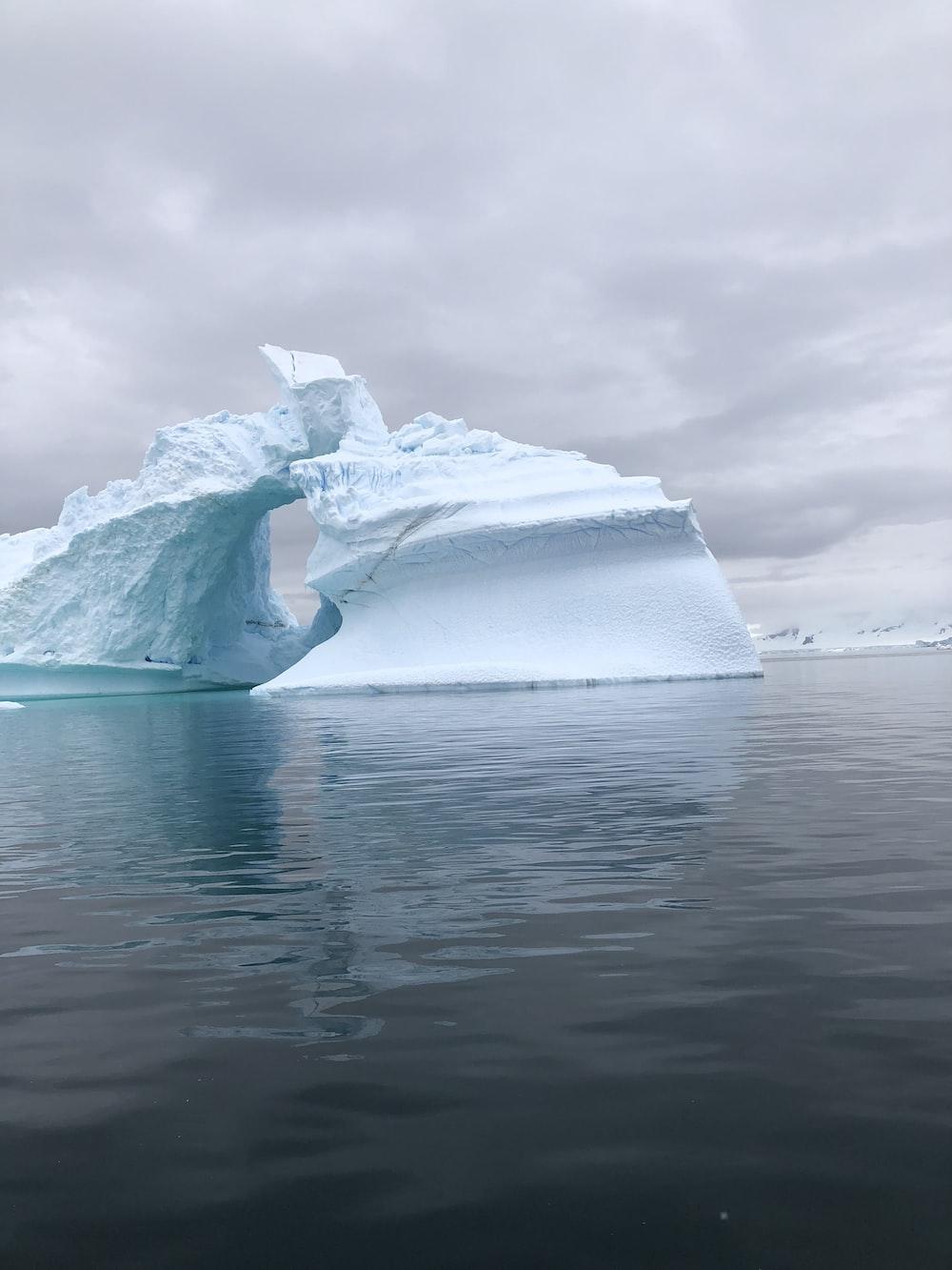 two iceberg