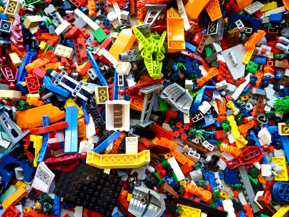 assorted-color plastic toy lot