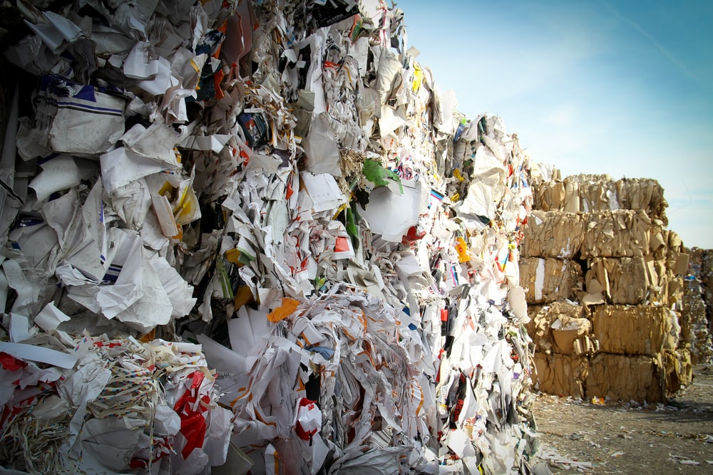 pile of paper garbages