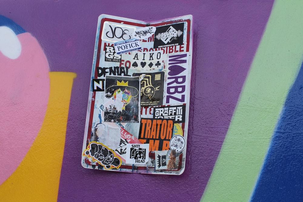 close up photo of sticker card