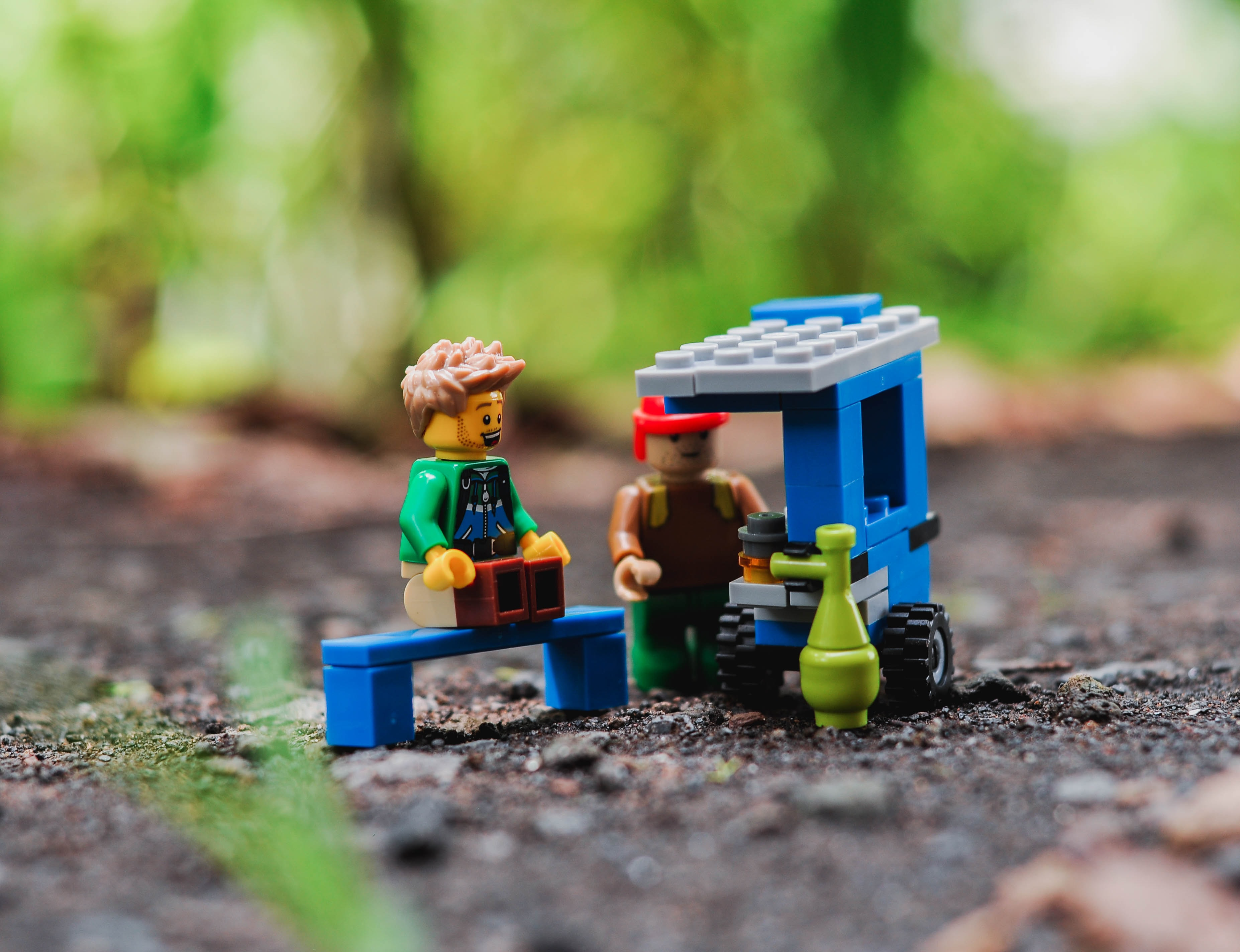 shallow focus lens photography of LEGO toys