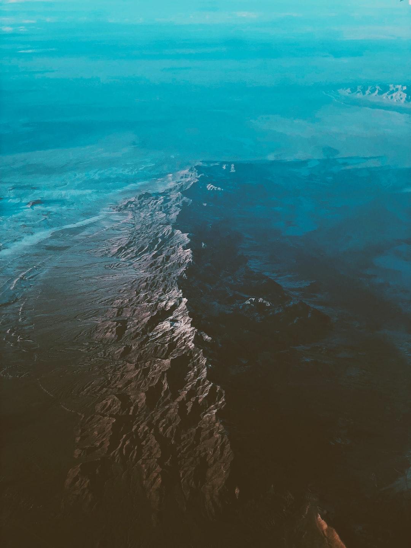 top view of ocean