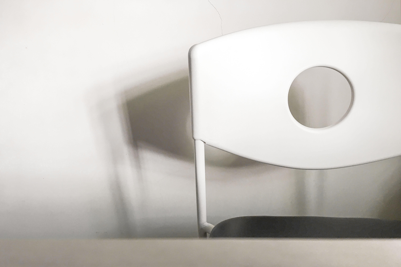 macro-shot of white chair