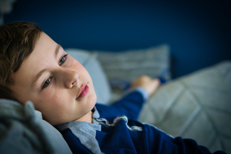 boy in blue sweater