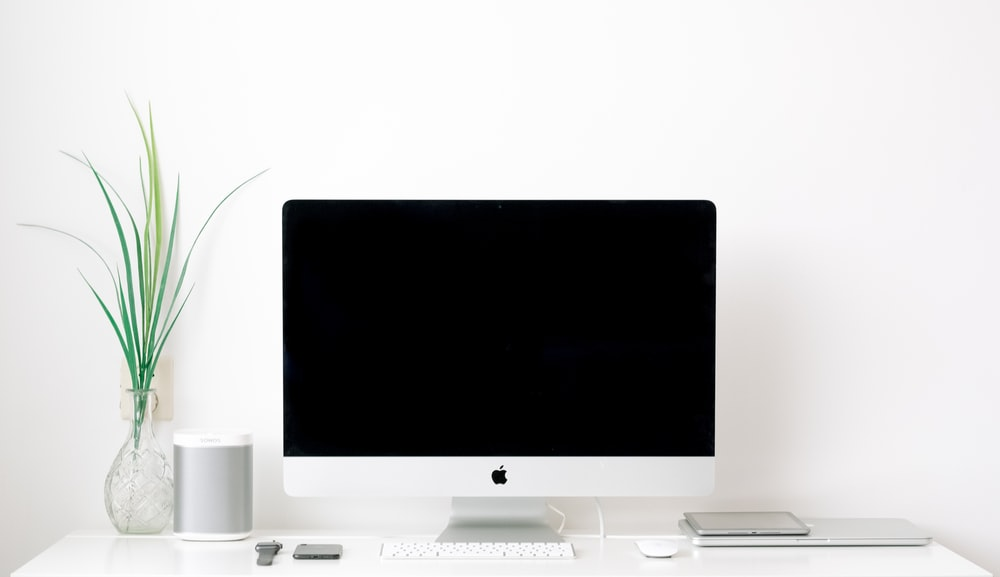 white iMac turned off