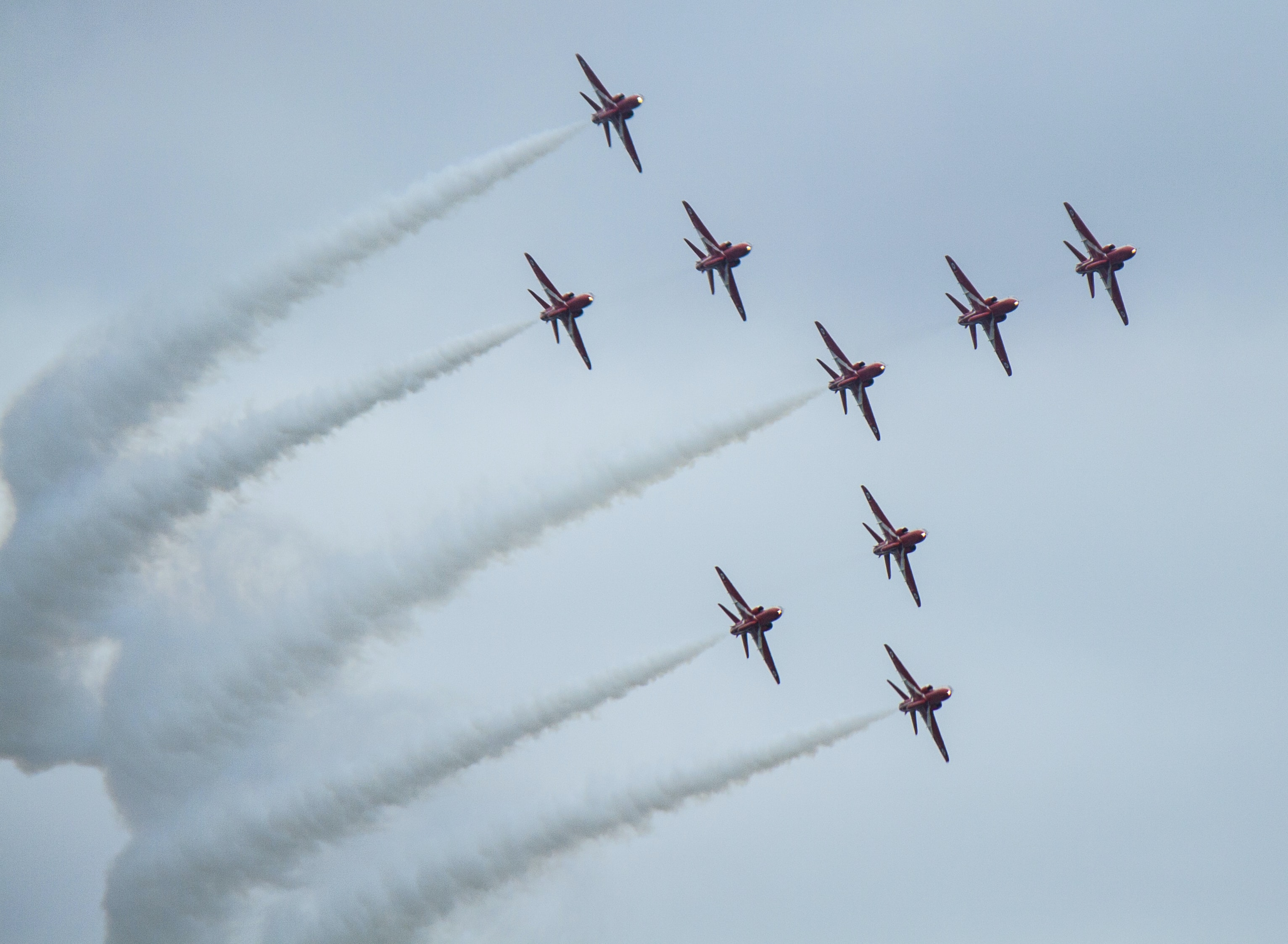fighter planes show during daytime