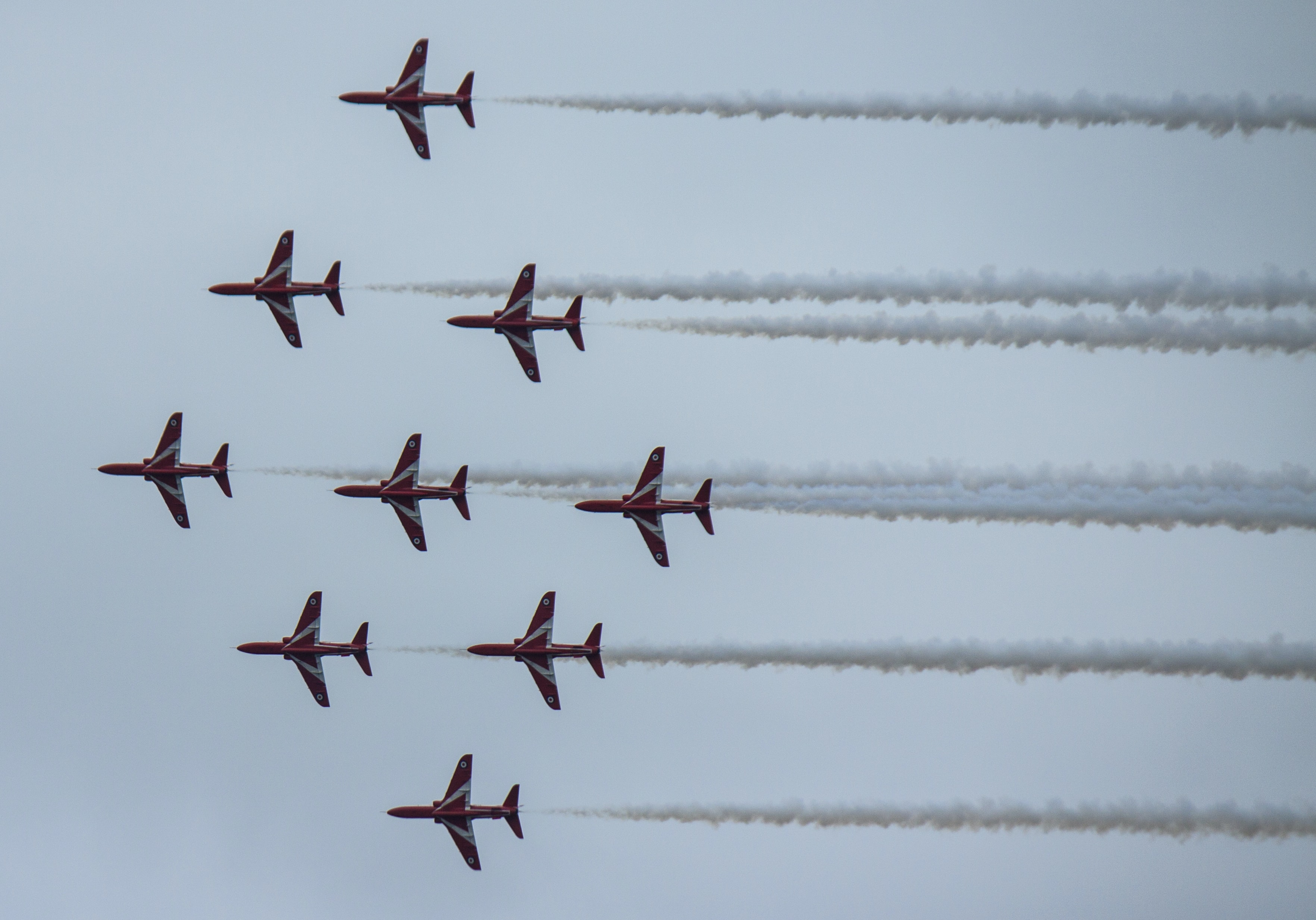 planes doing cloud show