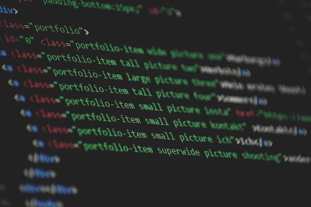 computer code screengrab