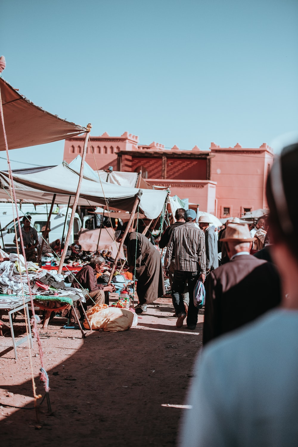 group of people on day market
