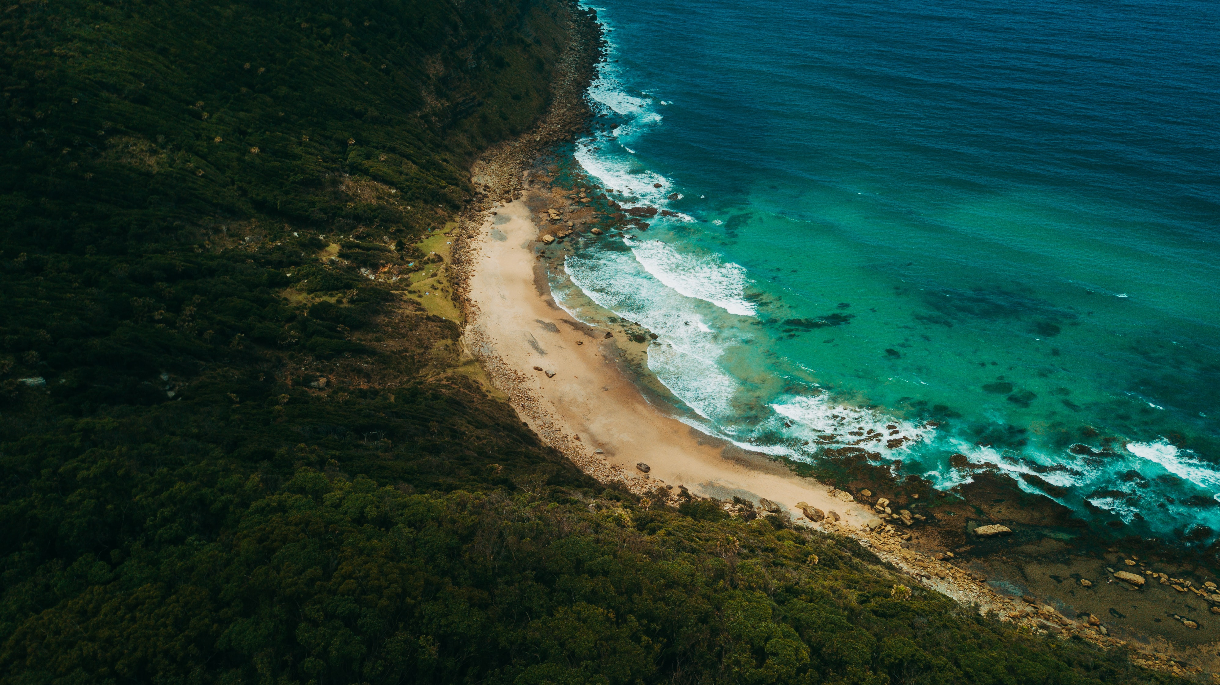 ocean waves at daytime aerial photography