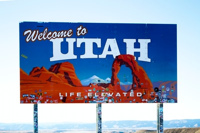 welcome to utah signage utah zoom background