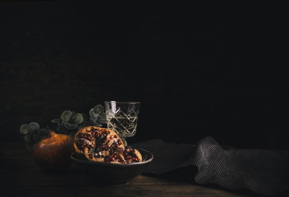 pretzels on black ceramic bowl